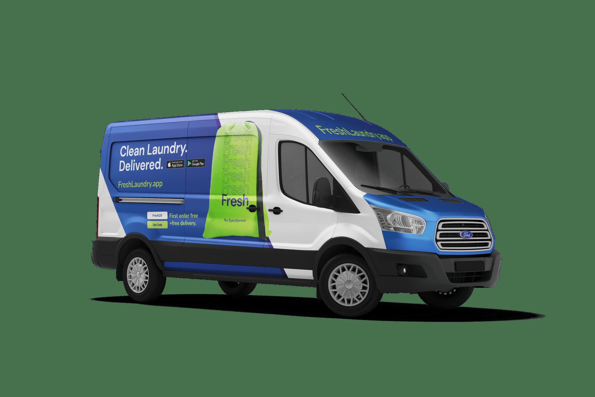 Spinxpress delivery van