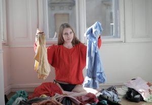 organizing laundry